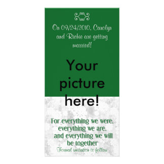 For Everything - Photo Save the Date Card - Green Personalized Photo Card
