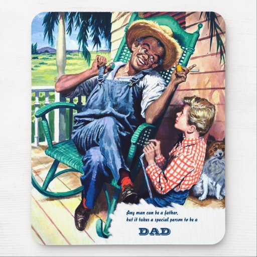 For Father on Father's Day. Vintage Scene Mouse Pads