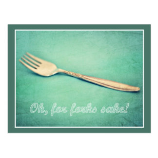 For Forks Sake! Postcard