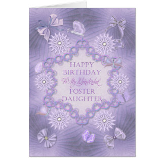For foster daughter birthday card with flowers
