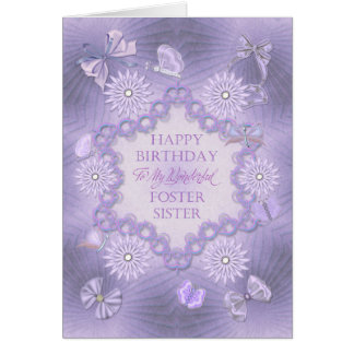 For foster sister lilac birthday with flowers cards