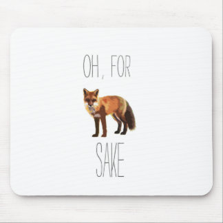 For Fox Sake Arty Cutout Mouse Pad