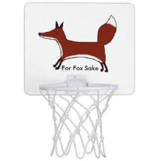 """For Fox Sake""  - cute fox Mini basketball hoop"