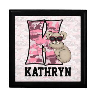 "for Girl's Pink Monogram ""K"" Jewelry Box"