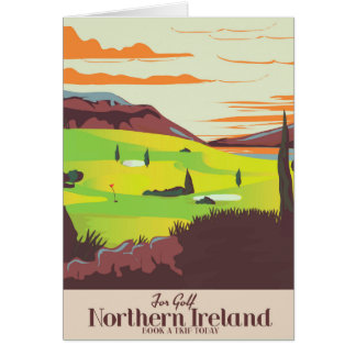 'For Golf' Northern Ireland Travel poster Card