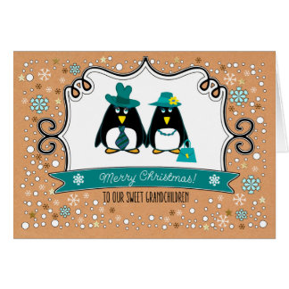 For Grandchildren at Christmas Custom Cards