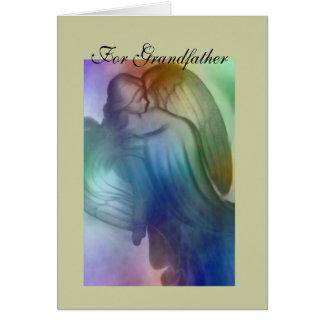 For Grandfather Rainbow Angel Card
