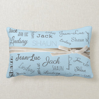 For Grandmother | Grandchildren Names Collage Lumbar Cushion