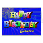 For grandson, Bright bubbles birthday card