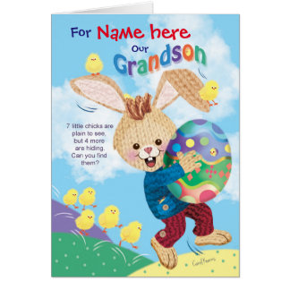 For Grandson, Cute Easter Activity Card