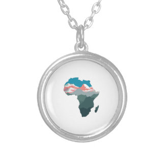 FOR GREAT AFRICA SILVER PLATED NECKLACE