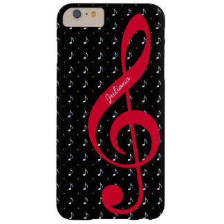 for her a personalized treble clef music barely there iPhone 6 plus case