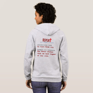 for HER (adult): REPENT + definition Hoodie
