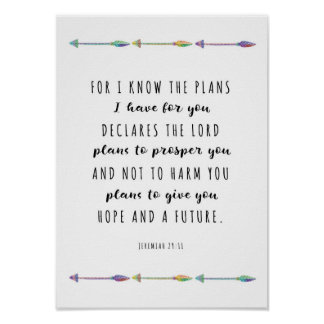 For I know the Plans I have for you Print