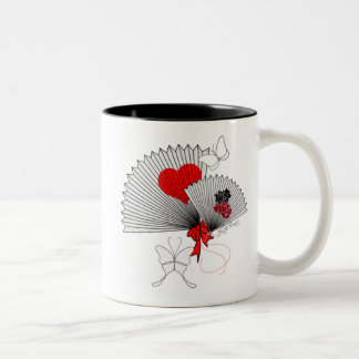 For Japan Pretty Fans With Butterflies Mug