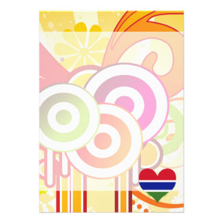 For Kids: Cool Gambia 13 Cm X 18 Cm Invitation Card