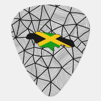 For Kids: Creative Jamaica Flag With Map Plectrum