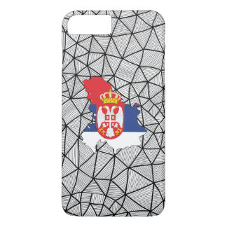 For Kids: Creative Serbia Flag With Map iPhone 7 Plus Case
