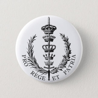FOR KING AND COUNTRY 6 CM ROUND BADGE