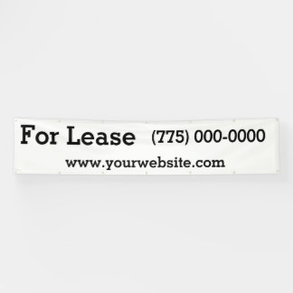 For Lease 12 Foot Banner