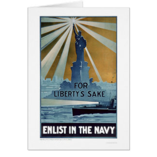 For Liberty s Sake Enlist in the Navy US02181A Card