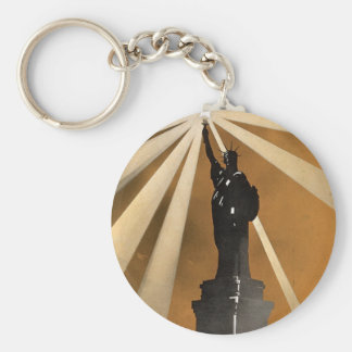 For Liberty's Sake ~ Enlist in the Navy Basic Round Button Key Ring