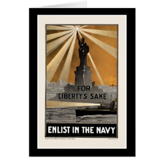 For Liberty's Sake ~ Enlist in the Navy Greeting Card