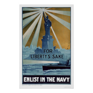 For Liberty's Sake, Enlist in the Navy (US02181A) Poster