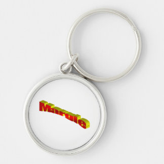 For Margie Silver-Colored Round Key Ring