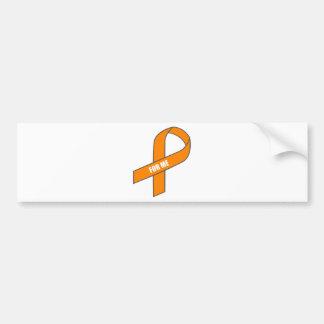 For Me (Orange Ribbon) Bumper Sticker