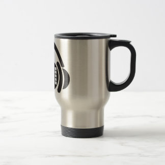 For music and coffee lovers travel mug