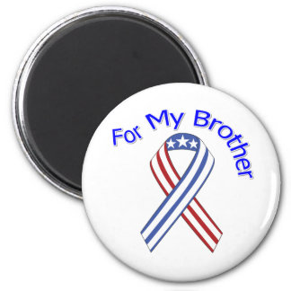 For My Brother Military Patriotic 6 Cm Round Magnet