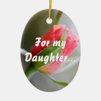 For My Daughter: Stay Strong in Faith (1 Timothy 4 Ceramic Ornament