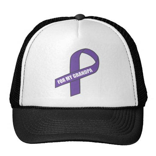 For My Grandpa (Purple Ribbon) Hats