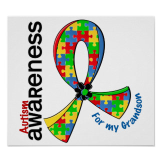 For My Grandson Autism Poster