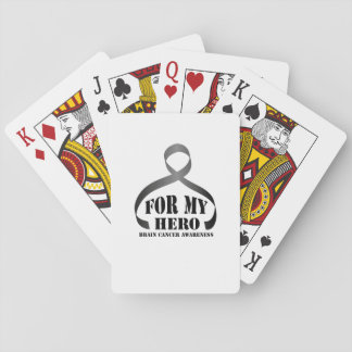 For my Hero Brain Cancer Awareness Gift Playing Cards