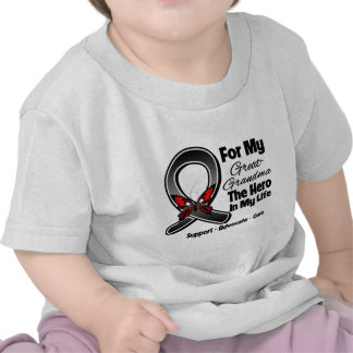 For My Hero My Great-Grandma - Melanoma Skin Cance T Shirt