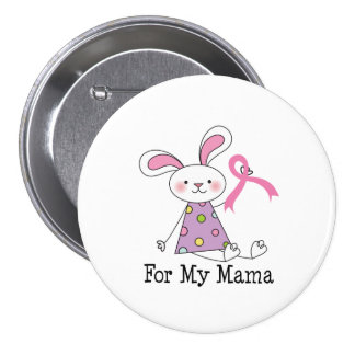 For My Mama Breast Cancer Awareness 7.5 Cm Round Badge