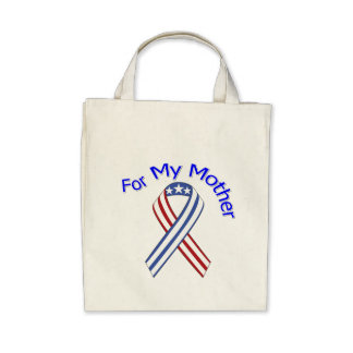 For My Mother Military Patriotic Canvas Bags
