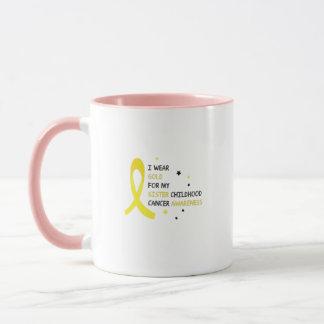 For My Sister childhood cancer awareness Fighting Mug