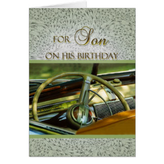 For My Son on His Birthday Classic Car Card