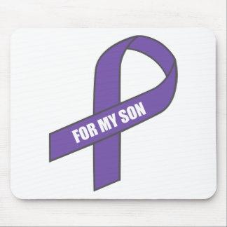 For My Son (Purple Ribbon) Mousepad
