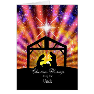 For my uncle, sunset Christmas Greeting Card