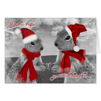 for Nana and Papa Christmas | Squirrel Love Card