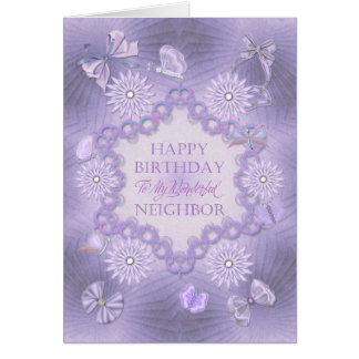 For neigh dreamy lilac birthday card with flowers