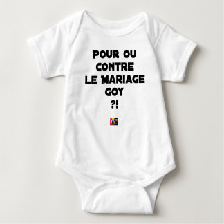 FOR OR AGAINST THE GOYISH MARRIAGE? - Word games Baby Bodysuit