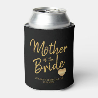 For Our Wedding Party in Gold Script Can Cooler