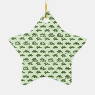 For Perfect gift maths to lover - Green model Ceramic Ornament