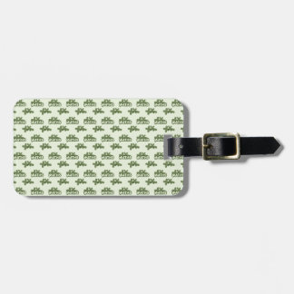 For Perfect gift maths to lover - Green model Luggage Tag