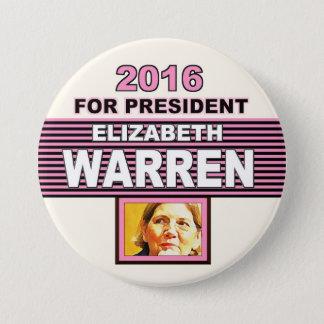 For President 2016 Elizabeth Warren 7.5 Cm Round Badge